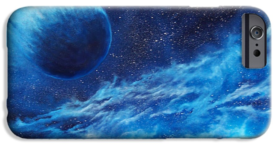 Astro IPhone 6 Case featuring the painting Comet Experience by Murphy Elliott