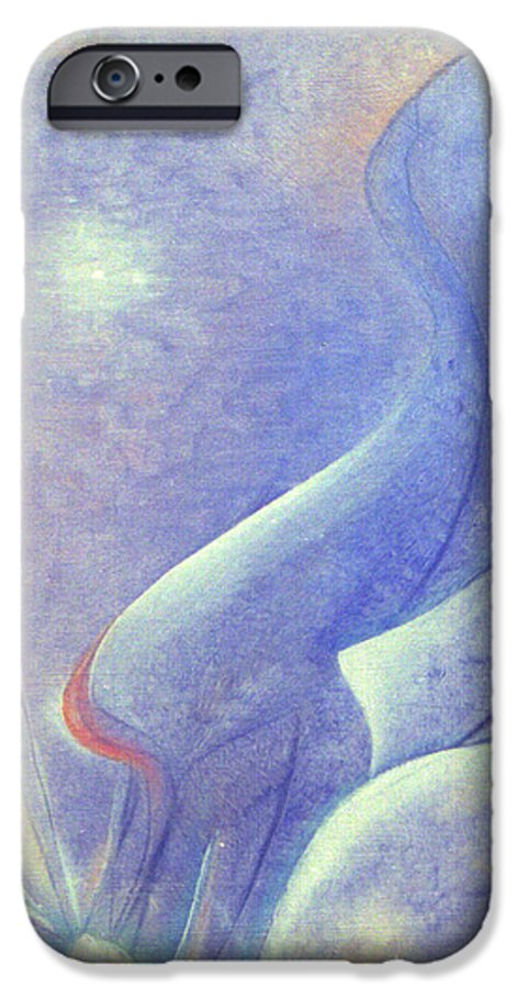 Blue IPhone 6 Case featuring the painting Comfort by Christina Rahm Galanis