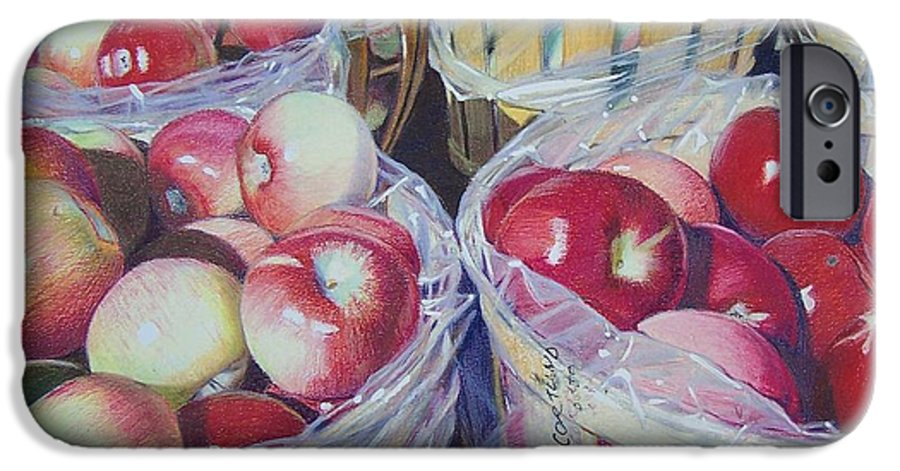 Apple IPhone 6 Case featuring the mixed media Cortland Apples by Constance Drescher