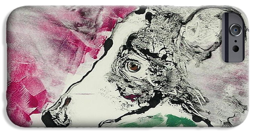 Greyhound IPhone 6 Case featuring the painting Cyrus by Cori Solomon