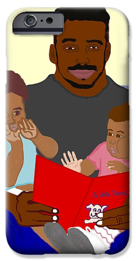 Dad IPhone 6 Case featuring the painting Daddy's Bundles by Pharris Art