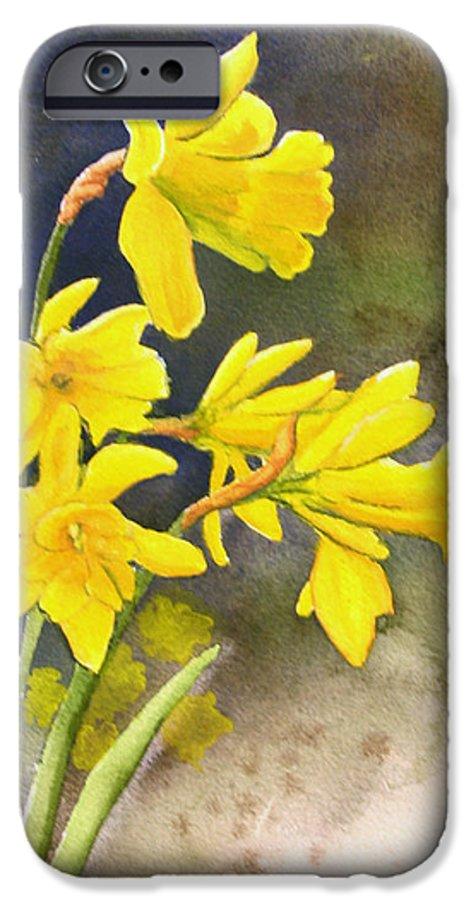 Rick Huotari IPhone 6 Case featuring the painting Daffodils by Rick Huotari