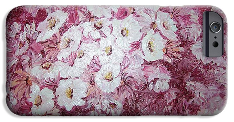 IPhone 6 Case featuring the painting Daisy Blush by Karin Dawn Kelshall- Best