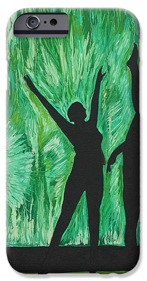 Abstract IPhone 6 Case featuring the painting Dance by Aimee Vance