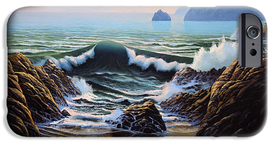 Seascape IPhone 6 Case featuring the painting Dancing Tide by Frank Wilson