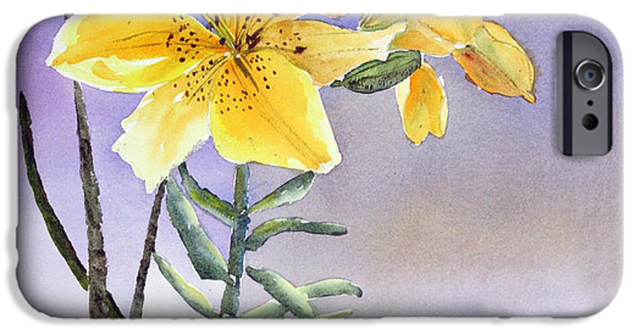 Lily IPhone 6 Case featuring the painting Daylilies by Patricia Novack