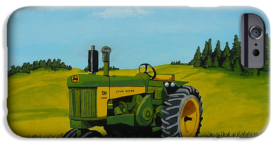 John Deere IPhone 6 Case featuring the painting Dear John by Anthony Dunphy