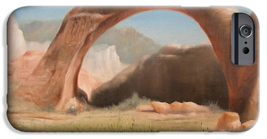 Realism IPhone 6 Case featuring the painting Desert Arch by Donelli DiMaria