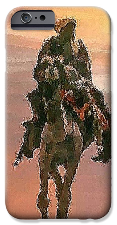 Landscape.desert.dusty Sun.camel.bedouin.sand.dusty.hot.dry.shadow. IPhone 6 Case featuring the digital art Desert. Bedouin. by Dr Loifer Vladimir