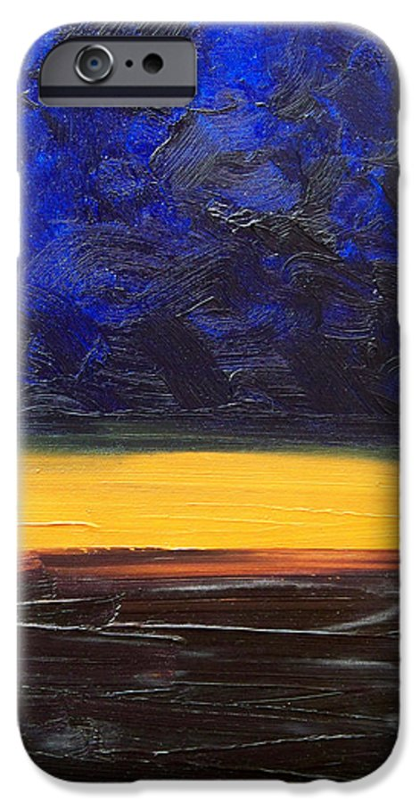 Landscape IPhone 6 Case featuring the painting Desert Plains by Sergey Bezhinets