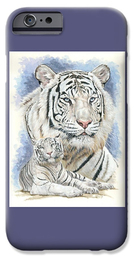 Big Cat IPhone 6 Case featuring the mixed media Dignity by Barbara Keith