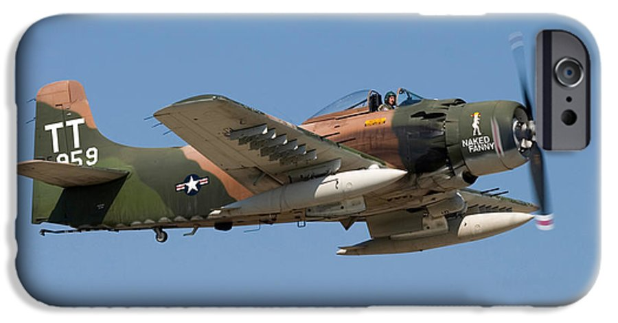 3scape IPhone 6 Case featuring the photograph Douglas Ad-4 Skyraider by Adam Romanowicz