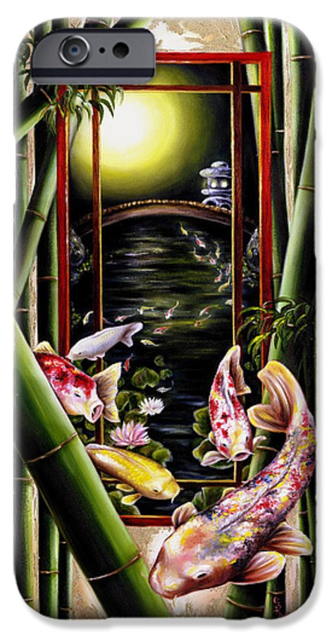 Japanese IPhone 6 Case featuring the painting Dream by Hiroko Sakai