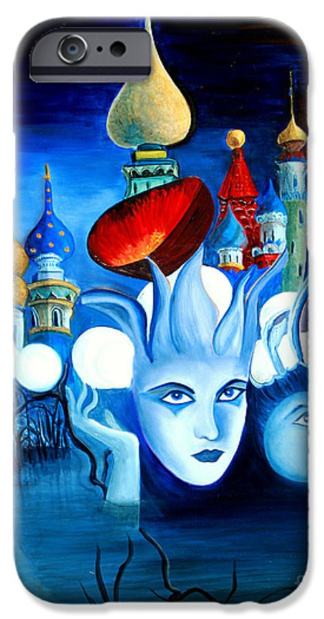 Surrealism IPhone 6 Case featuring the painting Dreams by Pilar Martinez-Byrne