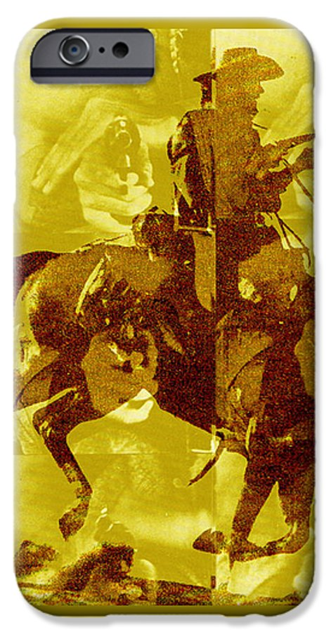 Clint Eastwood IPhone 6 Case featuring the digital art Duel In The Saddle 1 by Seth Weaver