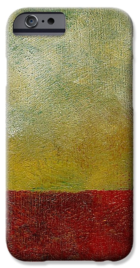 Abstract Landscape IPhone 6 Case featuring the painting Earth Study One by Michelle Calkins