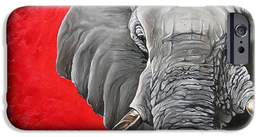Wildlife IPhone 6 Case featuring the painting Elephant by Ilse Kleyn
