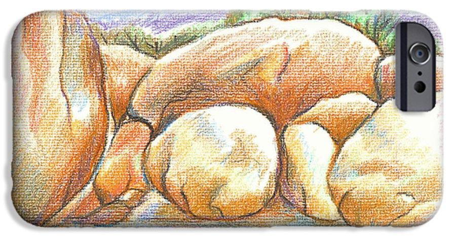 Elephant Rocks State Park Ii No C103 IPhone 6 Case featuring the painting Elephant Rocks State Park II No C103 by Kip DeVore