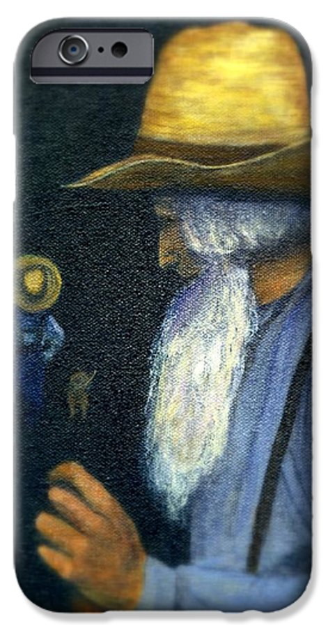 Men IPhone 6 Case featuring the painting Eli Remembers by Gail Kirtz