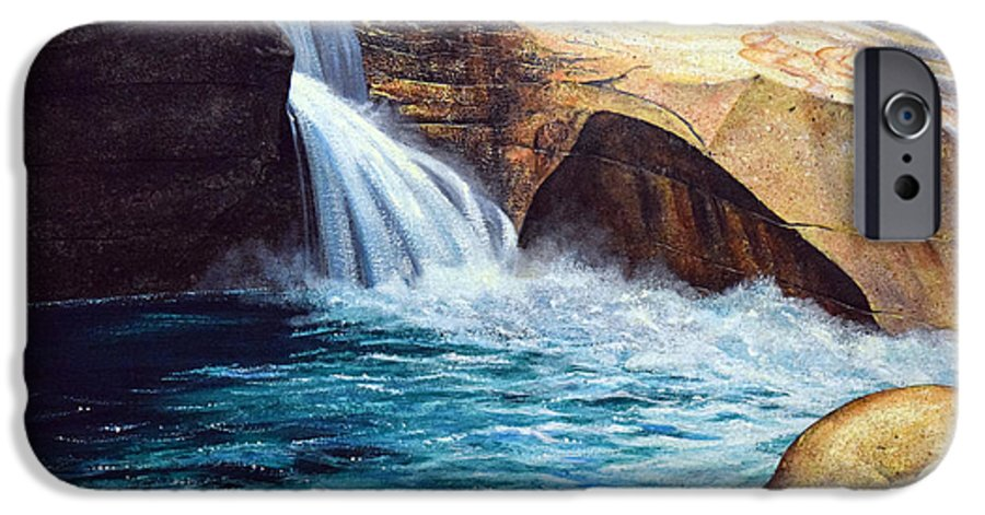 Emerald Pool IPhone 6 Case featuring the painting Emerald Pool by Frank Wilson