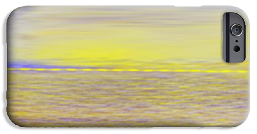 Sky.clouds.sun Reflection On Clouds.colr Clouds.sunset.sun.yellow.sea.waves.sun Reflection On Water. IPhone 6 Case featuring the digital art End Of Day by Dr Loifer Vladimir