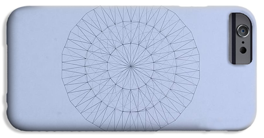Jason Padgett IPhone 6 Case featuring the drawing Energy Wave 20 Degree Frequency by Jason Padgett