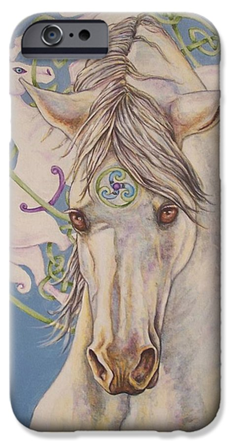 Celtic IPhone 6 Case featuring the painting Epona The Great Mare by Beth Clark-McDonal