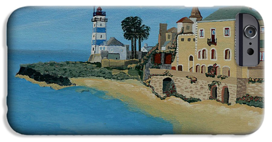 Lighthouse IPhone 6 Case featuring the painting European Lighthouse by Anthony Dunphy