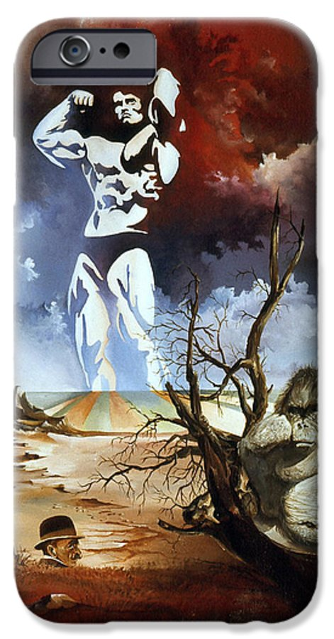Surrealism IPhone 6 Case featuring the painting Evolution by Otto Rapp