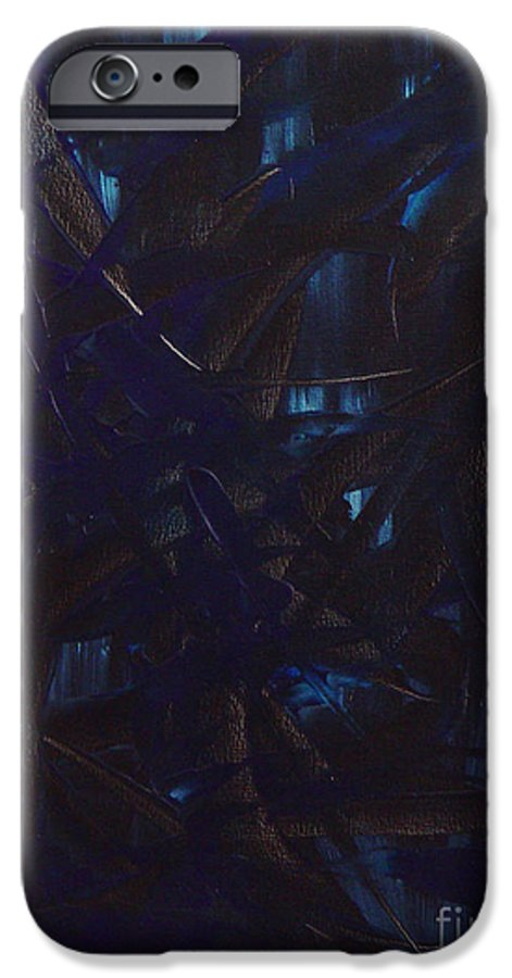 Abstract IPhone 6 Case featuring the painting Expectations Blue by Dean Triolo