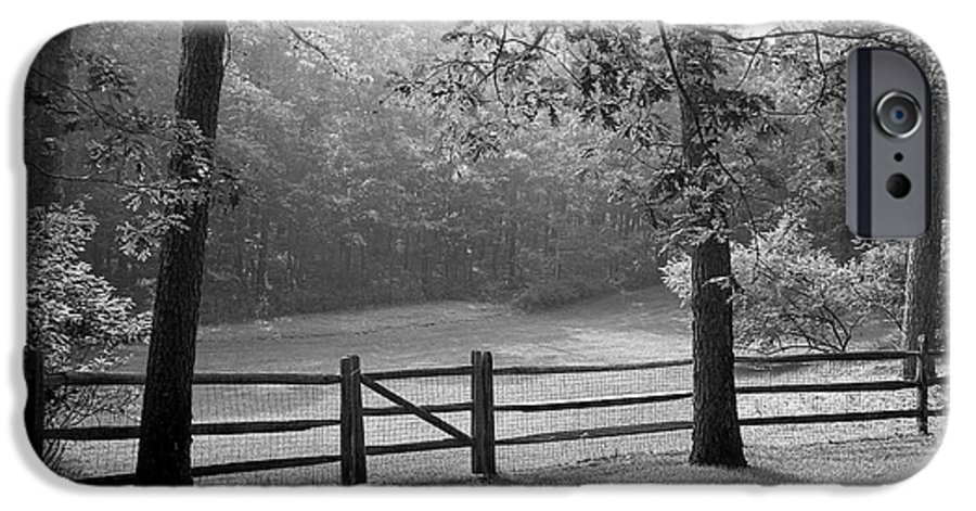Black & White IPhone 6 Case featuring the photograph Fence by Tony Cordoza