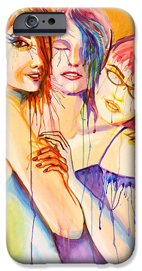 Portraits IPhone 6 Case featuring the painting Flawless by Angelique Bowman