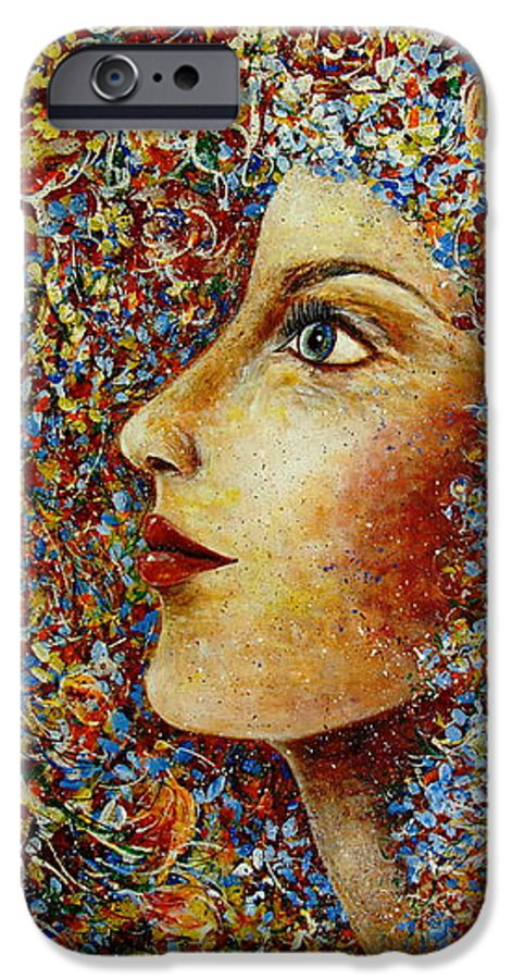 Flower Goddess IPhone 6 Case featuring the painting Flower Goddess. by Natalie Holland