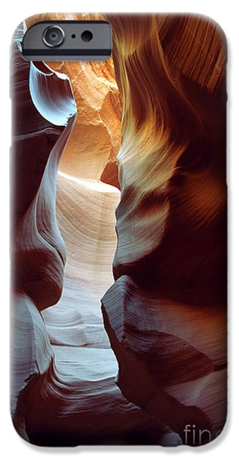 Slot Canyon IPhone 6 Case featuring the photograph Follow The Light II by Kathy McClure