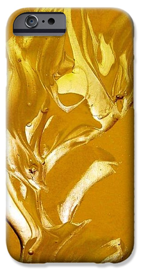 Gold IPhone 6 Case featuring the painting For Love  For All by Bruce Combs - REACH BEYOND