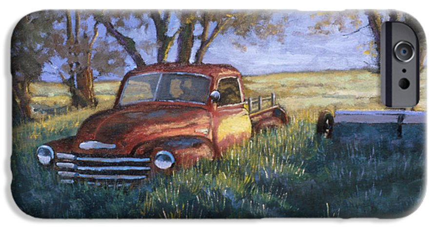 Pickup Truck IPhone 6 Case featuring the painting Forgotten But Still Good by Jerry McElroy