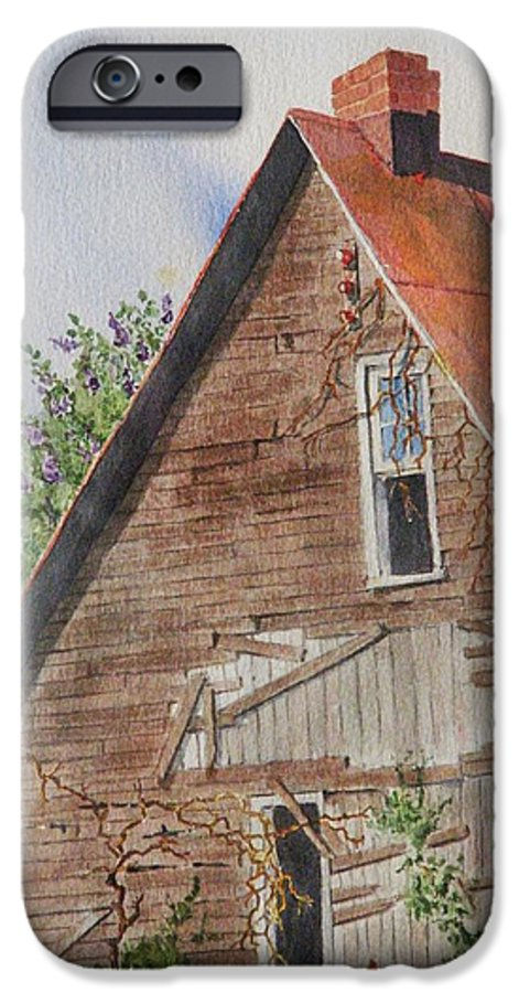 Farm IPhone 6 Case featuring the painting Forgotten Dreams Of Old by Mary Ellen Mueller Legault