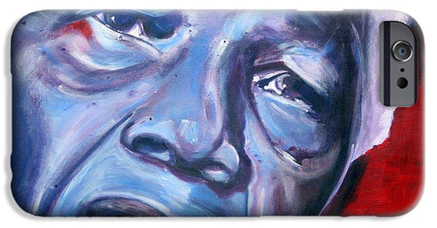 Nelso Mandela IPhone 6 Case featuring the painting Freedom - Nelson Mandela by Fiona Jack
