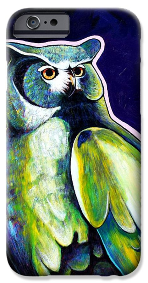 Owl IPhone 6 Case featuring the painting From The Shadows by Joe Triano