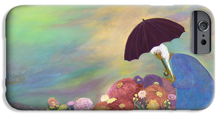 African American IPhone 6 Case featuring the painting Furious Flowers by F Geoffrey Johnson