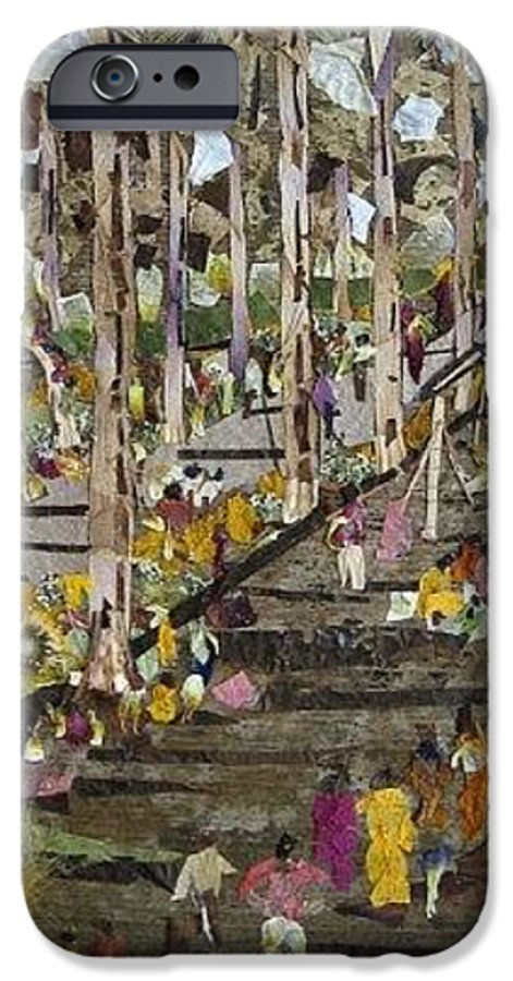 Garden Morning View IPhone 6 Case featuring the mixed media Garden Picnic by Basant Soni