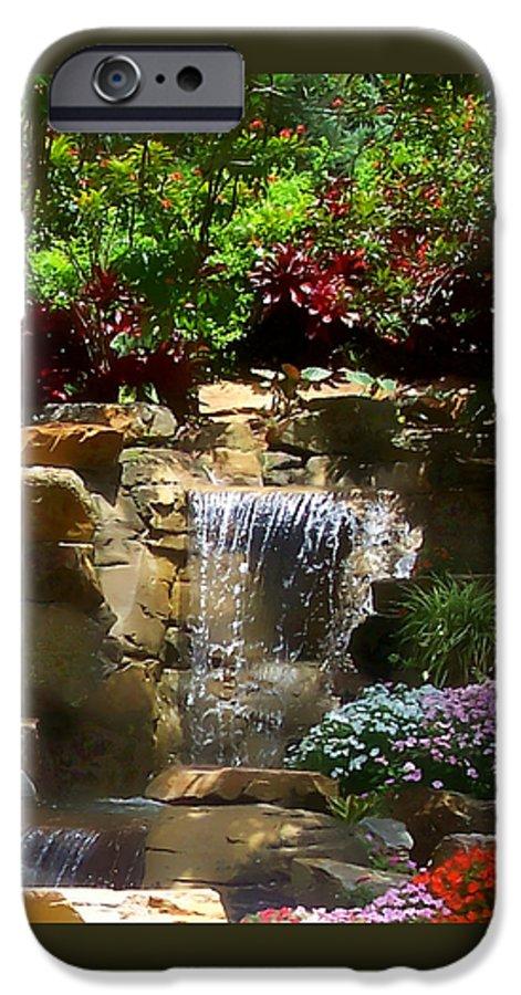 Garden IPhone 6 Case featuring the photograph Garden Waterfalls by Pharris Art