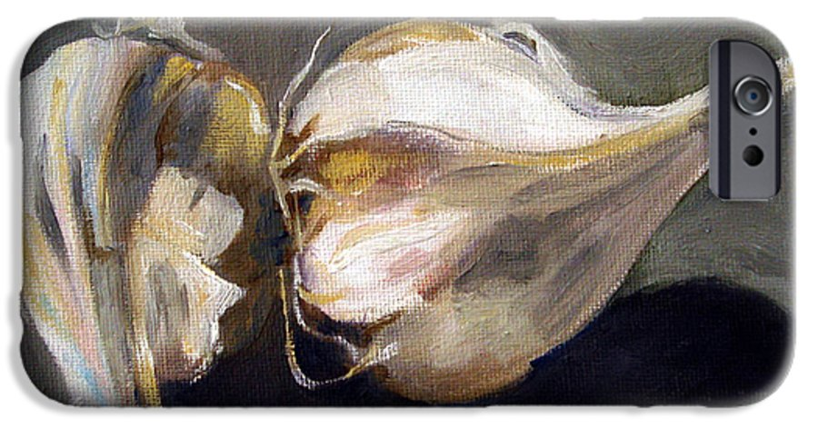 Still-life IPhone 6 Case featuring the painting Garlic by Sarah Lynch