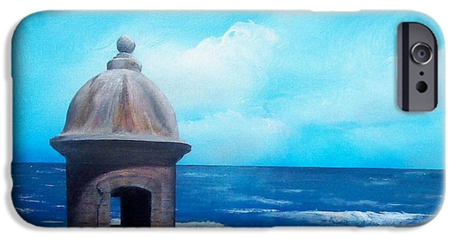 Garrita Del Diablo IPhone 6 Case featuring the painting Garrita Del Diablo by Tony Rodriguez
