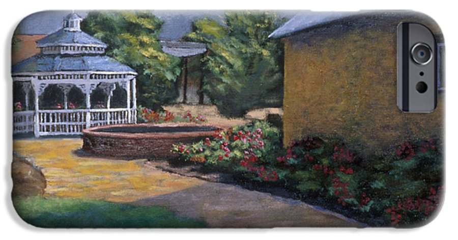 Potter IPhone 6 Case featuring the painting Gazebo In Potter Nebraska by Jerry McElroy