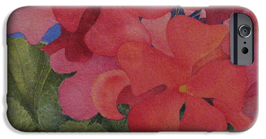Florals IPhone 6 Case featuring the painting Generium by Mary Ellen Mueller Legault