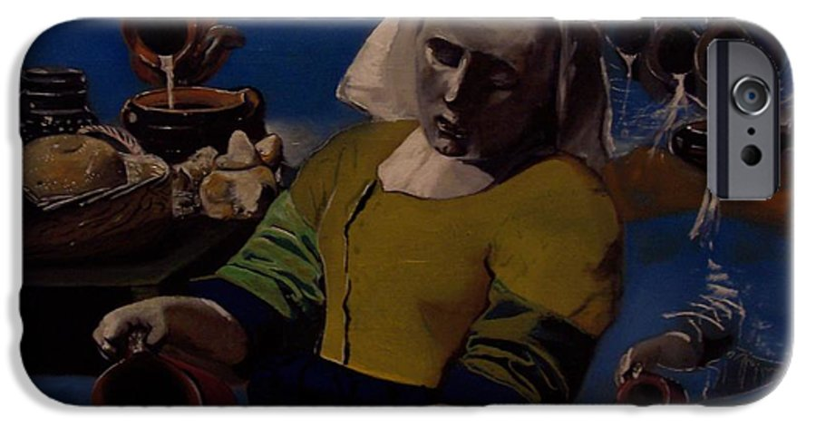 IPhone 6 Case featuring the painting Geological Milk Maid Anthropomorphasized by Jude Darrien
