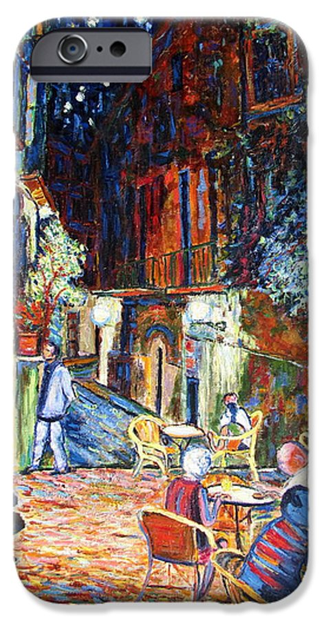Impressionsist Spain Cafe Night Stars Van Gogh IPhone 6 Case featuring the painting Gerona by Rob White