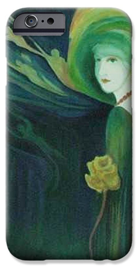 Women IPhone 6 Case featuring the painting My Haunted Past by Carolyn LeGrand