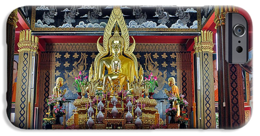 3scape Photos IPhone 6 Case featuring the photograph Golden Buddha by Adam Romanowicz